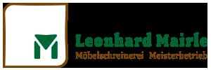 Die Schreinerei Mairle – Möbelschreinerei. Meisterbetrieb Logo